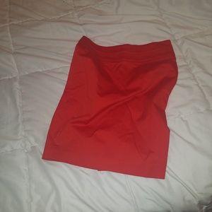 Bebe red short pencil skirt Size 2